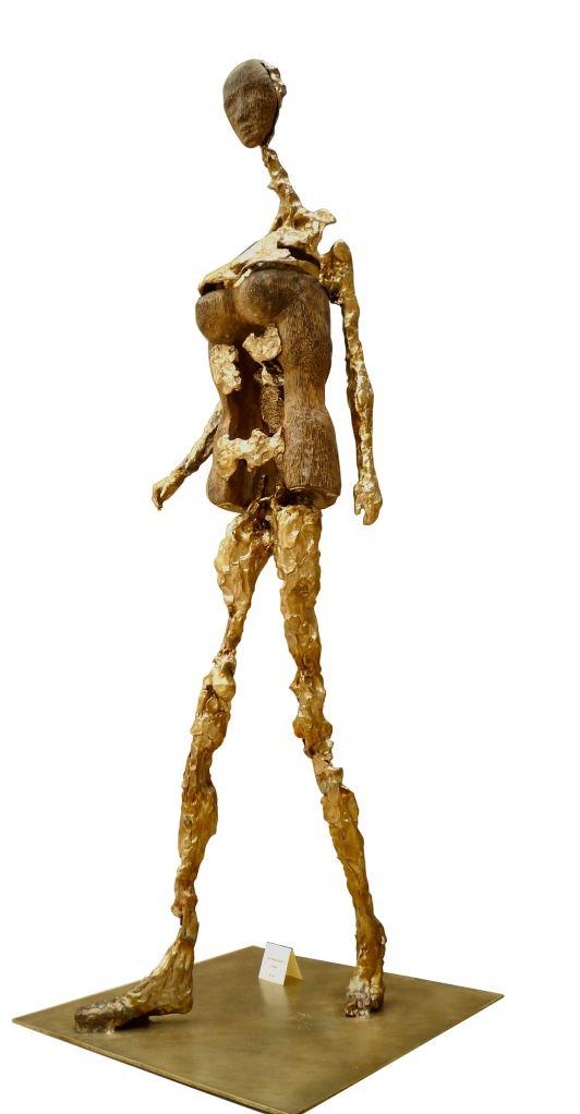 sculpture bronze et taille directe de bois